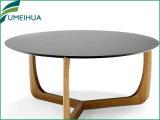 Black Round Melamine L em forma de mesa de jantar
