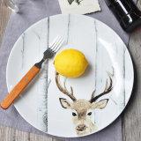 Plato de carne de alce Western Dish Simple creativa cena Retro