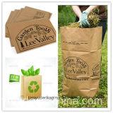 Bolsa de papel de Brown Kraft de la fabricación de la fábrica para la basura de la hoja
