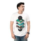 Бесшовный хлопок Tshirt Печать пользовательских T рубашку для мужчины