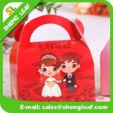 結婚式(SLF-PB031)で使用される新しいデザイン赤く堅い紙箱