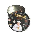 Enbossing Metal Tin Box Cookie Food Box Packaging Lata de lata