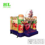 Hochwertiges heißes Verkaufs-entzückendes Günstling-Thema-aufblasbares kombiniertes mit Plättchen für die Kinder, die in draußen und zuhause springen