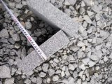 De donkere Grijze Granieten van Straatstenen G654