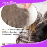 브라질 Virgin Hair Lace Frontal, Baby Hair를 가진 Ear Full Lace Frontal에 13X4 Body Wave Lace Frontal Closure, Ear 및 Closures