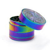 Maze Games를 가진 50mm Zinc Alloy Rainbow Herb Grinder