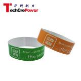 Wristband de papel sintetizado disponible modificado para requisitos particulares H3 del extranjero RFID 860-960MHz de la frecuencia ultraelevada