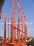 Disegno di modello dello strato intermedio del gruppo di lavoro del magazzino della struttura d'acciaio