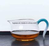 Tazza pura dell'acqua di Hademade di vetro di Pyrex con il supporto variopinto