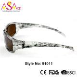 Óculos de sol artística de moda esportiva com certificação Ce (91011)