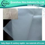 Tecido não tecido de fibra hidrofóbica respirável para fraldas com ISO (FH-036)