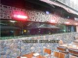 Calentador de infrarrojos y calentador de exterior en cafeterías de espacio abierto