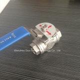 Valvola a sfera di modo dell'acciaio inossidabile 3 con la maniglia di chiusura (Q15F-16P)