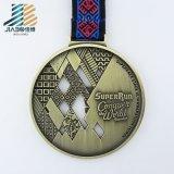 Горячие продукты литая бронза краски Custom Taekwondo медаль с лентой