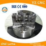 De verticale CNC Machine van de Draaibank met Hoge Precison die de Grote Schijf van het Metaal snijden