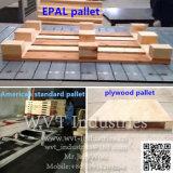 Automatische hydraulische hölzerne Ladeplatte, welche die Herstellung der maschinelle Herstellung-Zeile Gerätehersteller für amerikanische europäische Epal Standardladeplatten-hölzerne Furnierholz-Ladeplatte nagelt