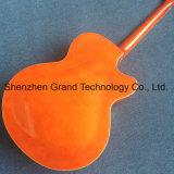 Double F trous Jazz creux guitare électrique avec système de trémolo en orange (TJ-290)