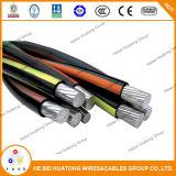 UL 854 ДТП кабель 600V алюминиевый проводник Cross-Linked XLPE короткого замыкания многоядерных проводника вторичной Ud кабель