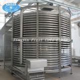 Transporte espiral para o sistema refrigerando dos pães