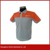 Camisas de polo curtas personalizadas dos homens do algodão da luva (P45)