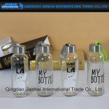 100ml/300ml transparent und Frosting-Wasser-Glasflasche mit Hülse
