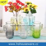 Vaso di vetro del cactus