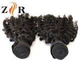 Cutícula completa peruano Reta Natural de cabelo humano tecelagem barbeiro
