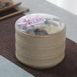 Jarra de chá em cerâmica selada de cerâmica Jar Jar decorativos em cerâmica