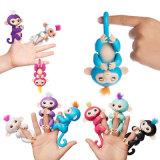 Взаимодействующая обезьяна младенца, игрушка маленьких малышей детей обезьяны любимчика Fingerlings младенца электронных новая