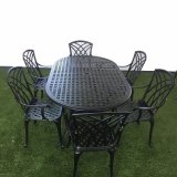 옥외 가구 금속 테이블 및 의자