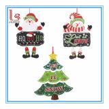 Décorations de coup de papier de porte d'arbre de Noël