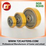 Rodízio giratório com roda PU de freio com centro de alumínio6 * 2