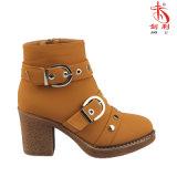 Madame classique Shoes de 2018 gaines de cheville avec la décoration de boucle et de rivet (AB666)