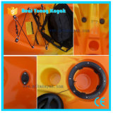 Canoa trasparente della plastica dei 2 della persona pescherecci del kajak