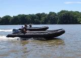 Aqualand 18feet 4.7m Semi-Rigid Opblaasbare Boot van de Motor van Hypalon van de Redding Militaire Rubber (AQL-470)