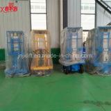 Bestes verkaufencer genehmigte hydraulischen doppelten Mast-Aluminiumlegierung-leichten Plattform-Aufzug mit niedrigem Preis