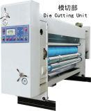Cuatro colores de impresión con tinta Flexo troquelado de asignación de fechas y el apilador máquina