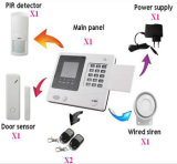 GSM inalámbrico de seguridad y sistema de alarma Sistema inteligente de alarma de coche con pantalla LCD y voz Yl-007m2f