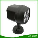 Justierbarer Solar-LED Scheinwerfer-Glühlampe des Winkel-Fühler-im Freien
