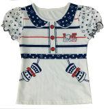 Veste de fille à la mode pour enfants en tee-shirt enfant et veste en tricot (SV-017)