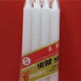 De witte Kaars van de Pijler op Verkoop voor de Decoratieve Kaarsen van Kerstmis