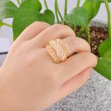 Ювелирные изделия кольца роскошного золота конструкции сетки типа кристаллический