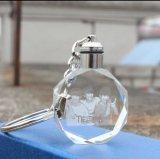 Высокое качество лазерной гравировки светодиодный индикатор Crystal кольца для ключей