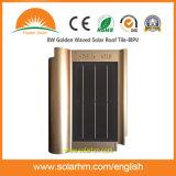 золотистая, котор развевали солнечная Плитка-BIPV крыши 8W