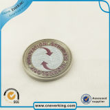 Logo de promoción de metal grabado en relieve suave esmalte badges