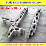 Semi Ciment Béton automatique creux Brique Bloc faisant la machine