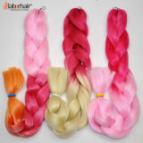 New Arrived Hair Braid 100% Kanekalon Jumbo Braid X-Pression Extension de cheveux synthétiques Lbh 039