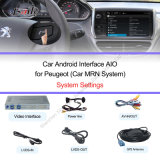 Peugeot2008/208/508/408 Support DVR、Rearview Cameraのための2014年のプラグアンドプレイAndroid Auto Video Interface Work