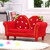 Sofá casero dulce de la tela de los muebles de los niños de la fresa (SF-261)