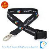 Poliéster de alta calidad con pantalla plana de tarjeta impresa cuerda de seguridad Holder